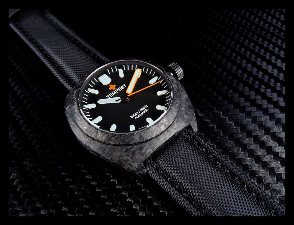 Tempest Affordable Forged Carbon Watch Watchpaper