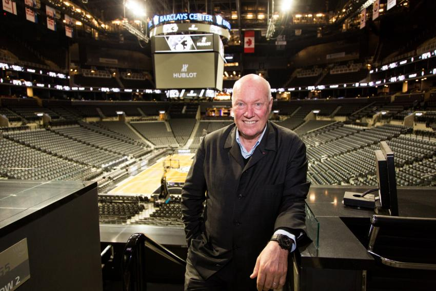 Jean-Claude Biver in New York City at the Barclays Center