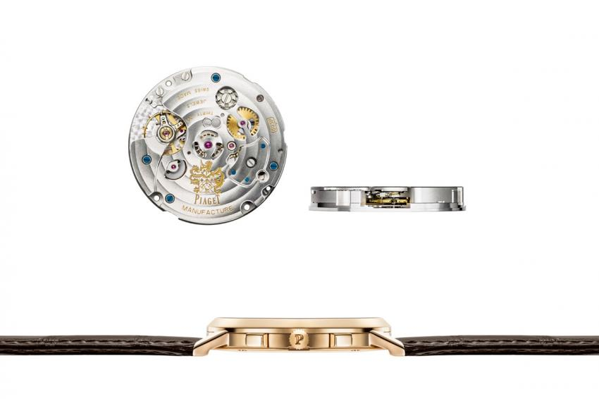 Piaget 883P - World's thinnest hand-wound flyback chronograph movement: 4.65mm and the slim profile of the Altiplano Chronograph.