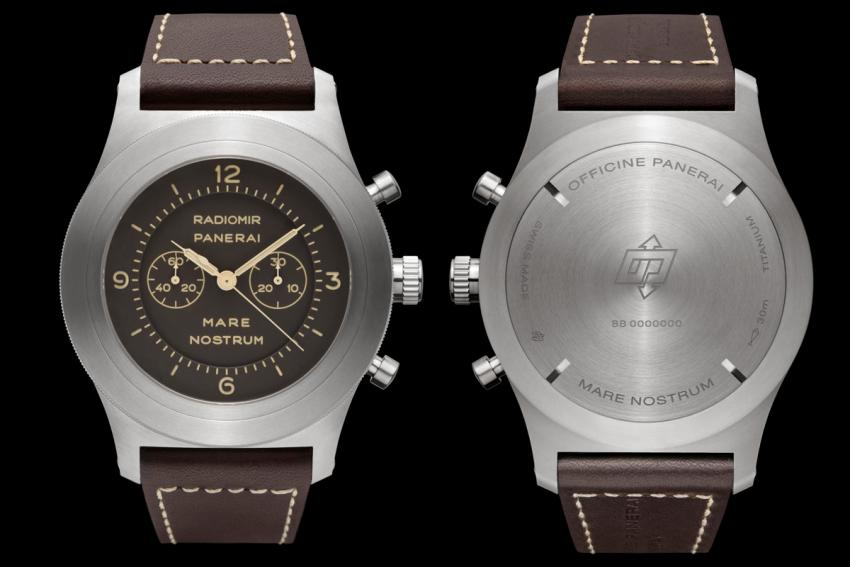 The front and the back of the Panerai Mare Nostrum Titanio - 52 mm (PAM00603)