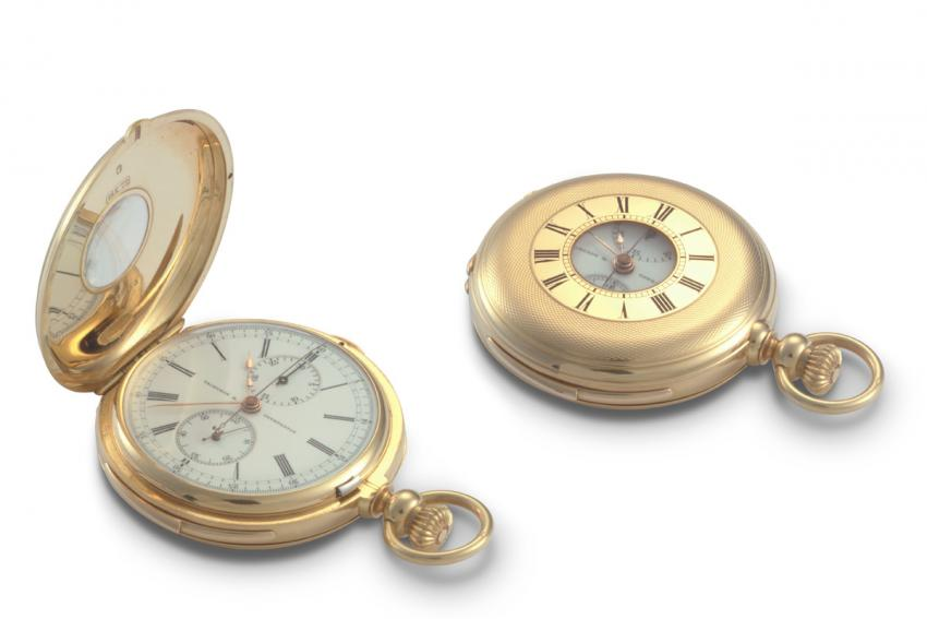 A Vacheron Constantin minute-counter chronograph from 1900, owned by Prince Louis Napoleon.