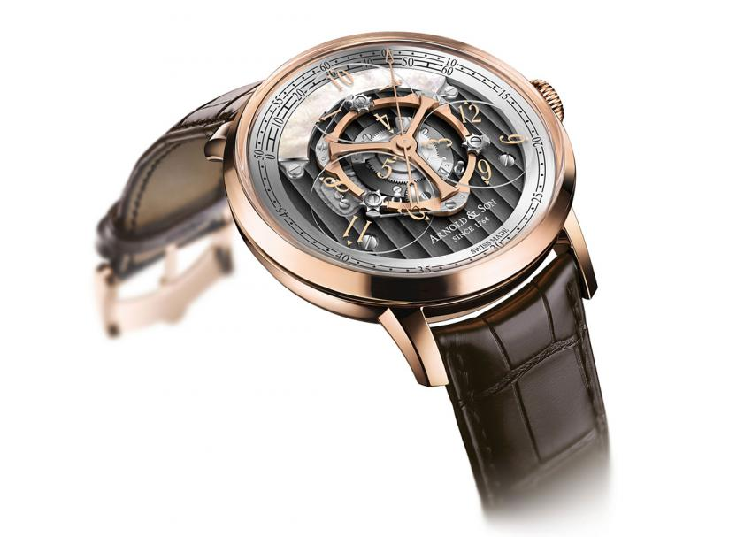 Arnold & Son Golden Wheel is the world's first wandering hours and true beat second watch.