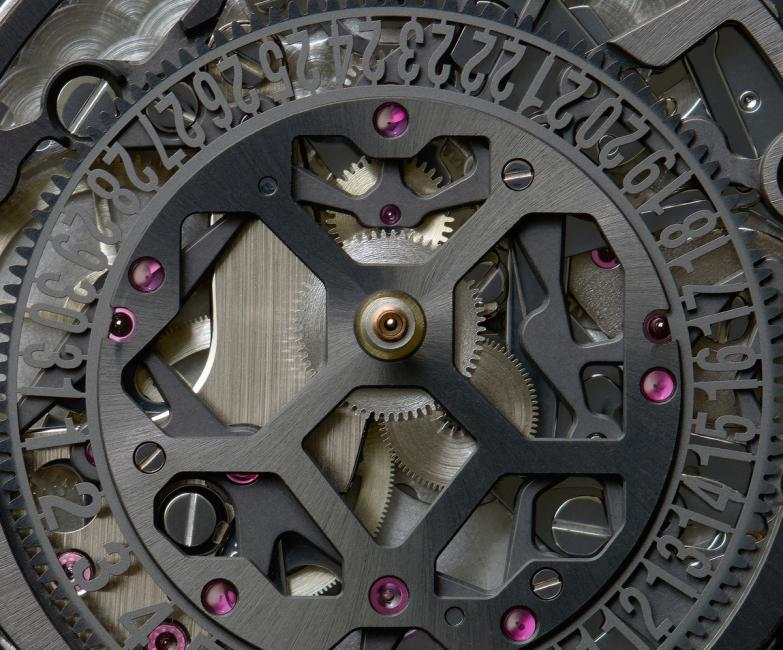 The skeletonized movement of the BR-X1 by Bell & Ross