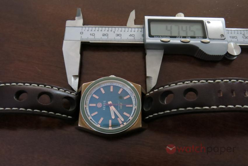 Lug to lug, the Valkyr measures 48 mm