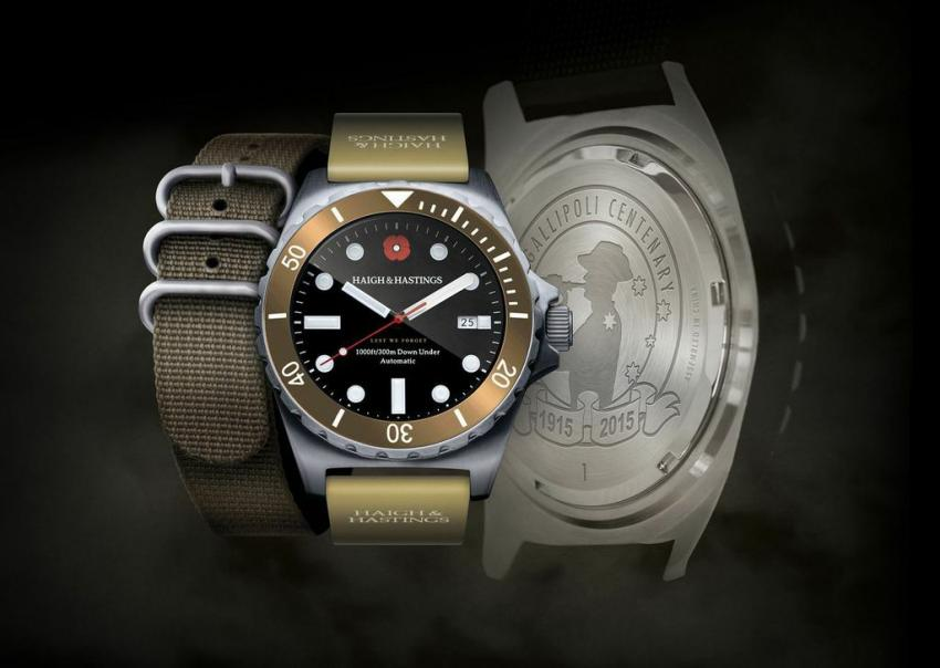 The Australian Haigh & Hastings has released a special edition Gallipoli Centenary timepiece