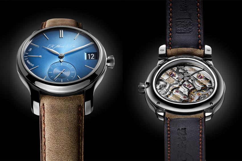 """H. Moser & Cie Endeavour Perpetual Calendar Funky Blue, Reference 1341-0207, an 18-carat white gold """"smartwatch"""""""