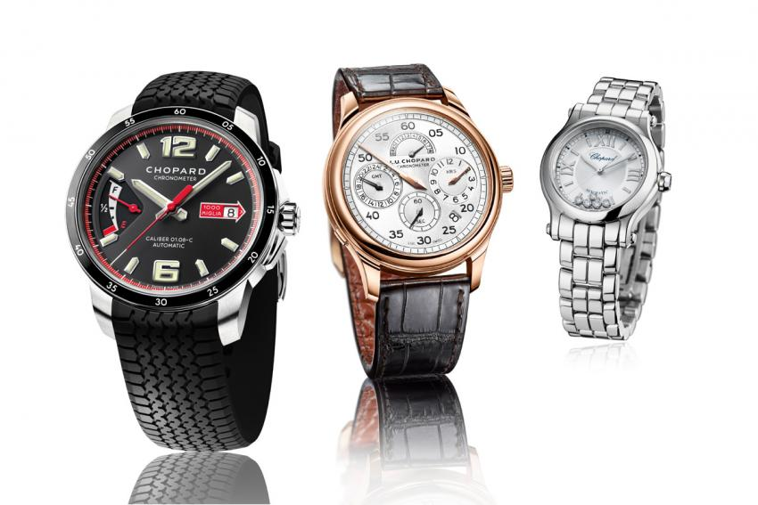 Three of Chopard's novelties that will be presented at Baselworld 2015