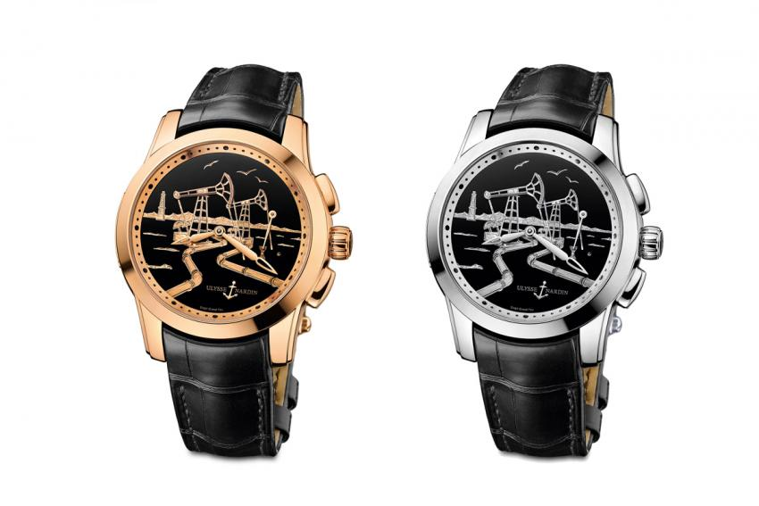 The Ulysse Nardin Hourstriker Oil Pump is limited to 18 rose gold and 18 platinum pieces.