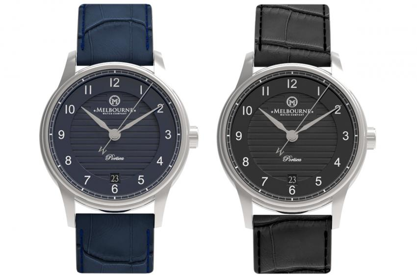 Melbourne Watch Company - Portsea Heritage Blue and Black