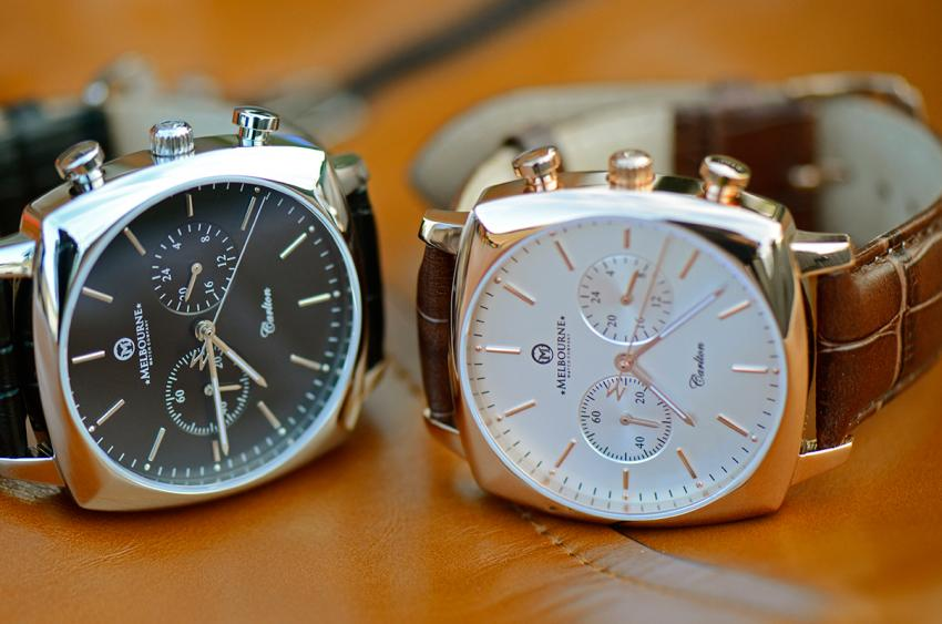 The two versions of the Melbourne Watch Co Carlton