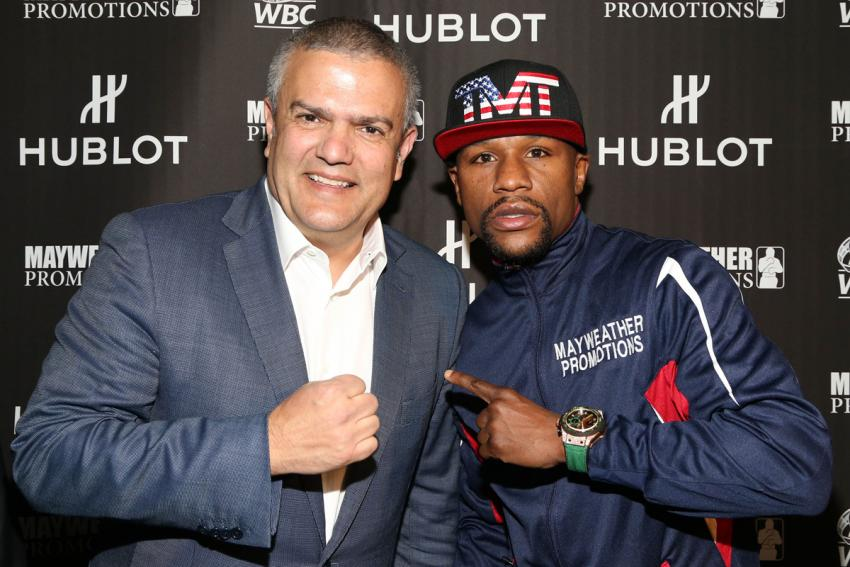 "Hublot CEO Ricardo Guadalupe with 10-time World Champion Floyd ""Money"" Mayweather"