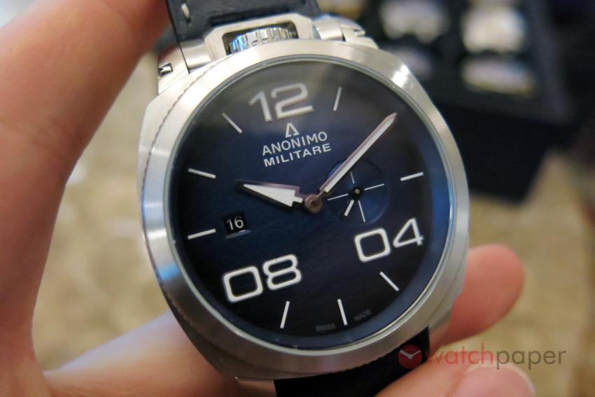 Anonimo Militare Classic Auto, stainless steel with blue dial