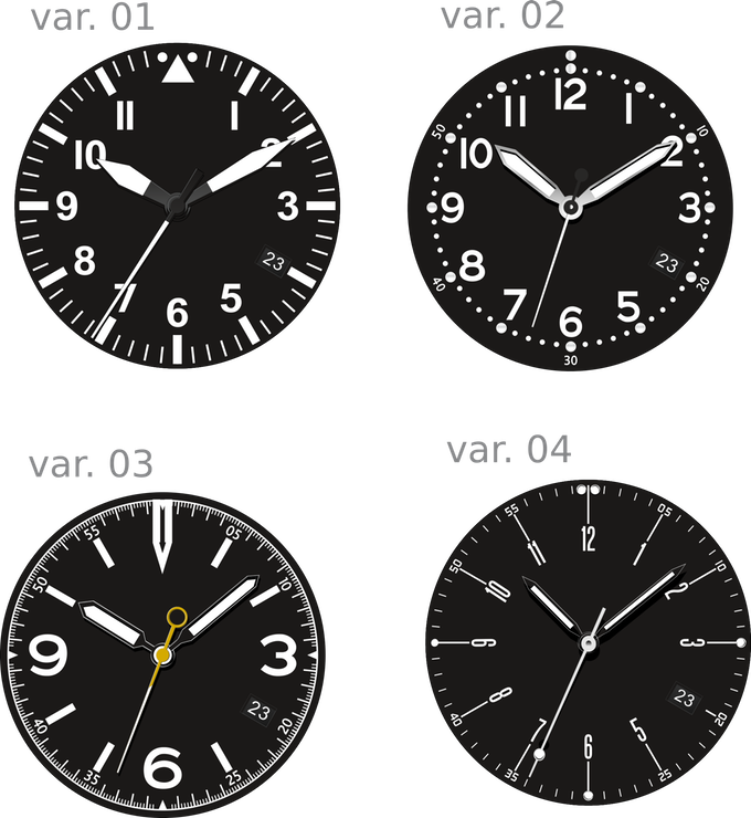 COURG dial versions