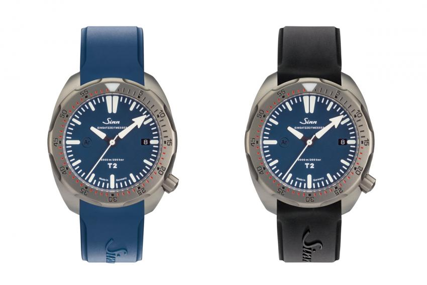 The T2 B on blue and black strap.