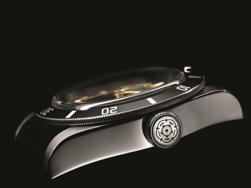 A side view of the Tudor Heritage Black Bay One