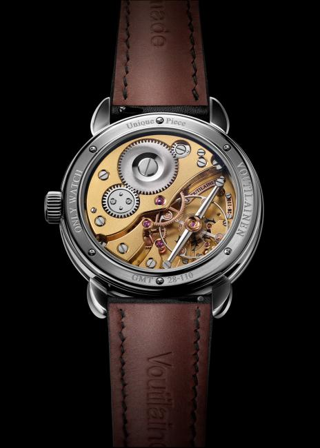 Th back of the Voutilainen GMT-6 Only Watch 2015