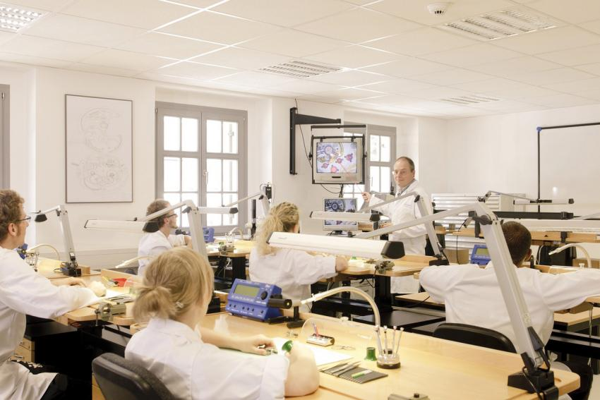 Classroom at the Alfred Helwig School of Watchmaking
