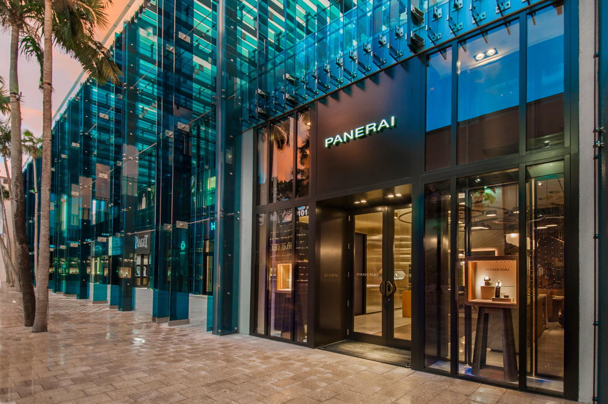 panerai opens its first american boutique in miami