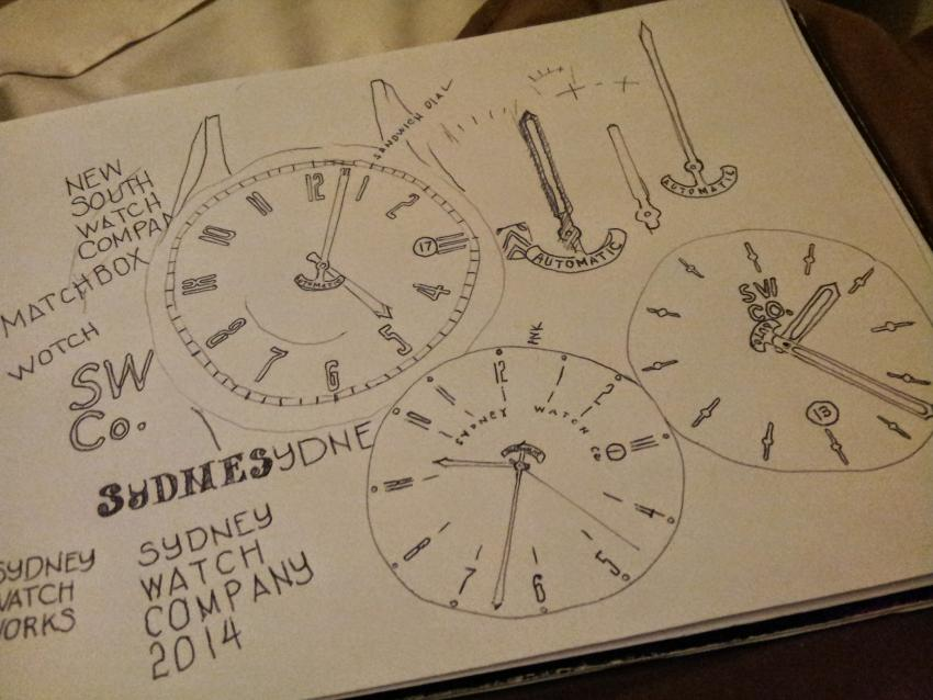 Sketches around the Sydney Watch Company idea
