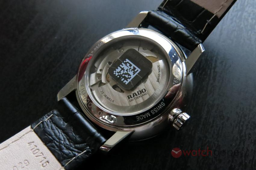 The back of the Coupole Classic Automatic