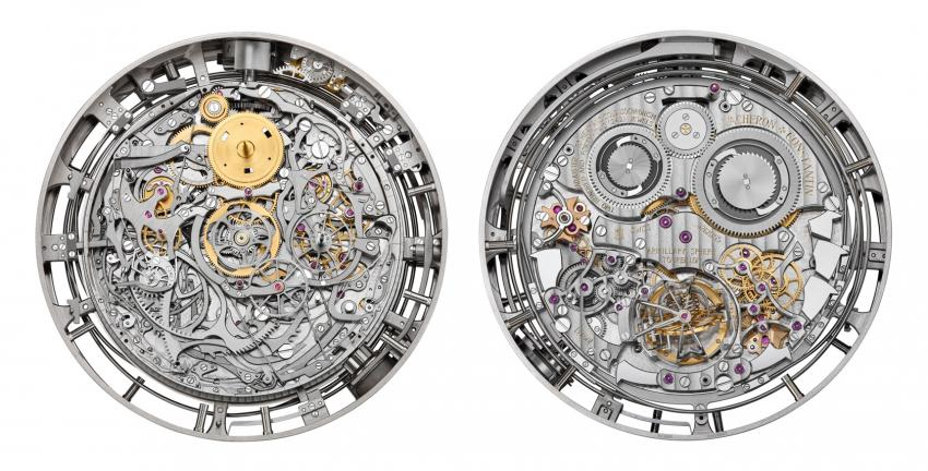 The front and the back of the super-complicated Vacheron Constantin Calibre 3750