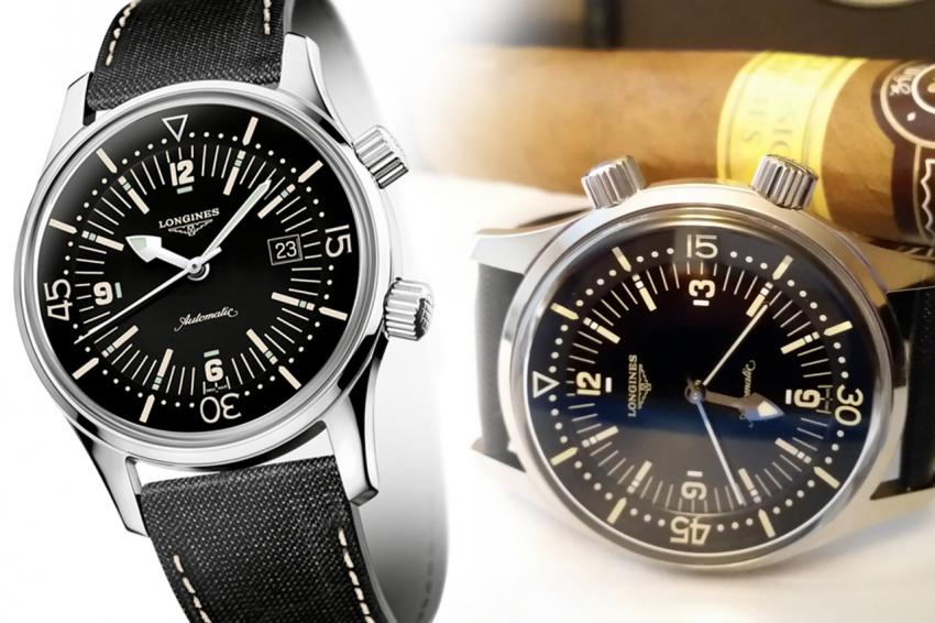 Longines Legend Diver (L3.674.4.50.0) and its no-date brother (L3.674.4.56.3)