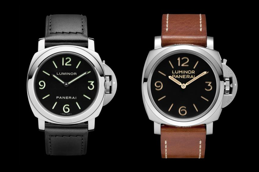 Luminor Base Acciaio - 44mm (PAM00112) and Luminor 1950 3 Days Acciaio - 47 mm (PAM00372)