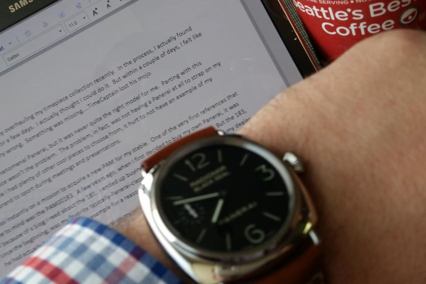 TimeCaptain working on this blog post.