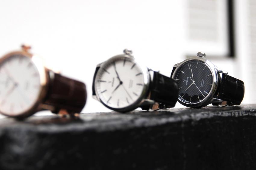 The Constantine will come in three models, gold with white dial, steel with white dial and steel with black dial.