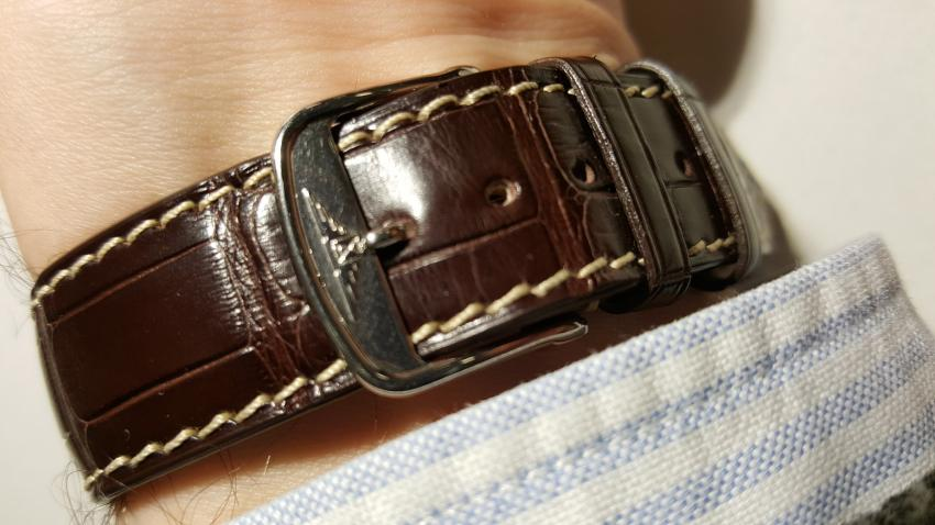 Strap and buckle accompanying the Longines Pulsometer Chronograph
