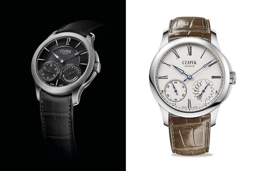 Czapek Quai des Bergues in titanium (Ref. No. 27) and XO steel (Ref. No. 25)