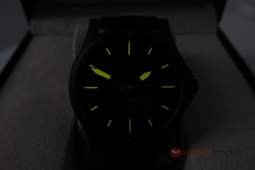 The orange lume of the Avalon in action