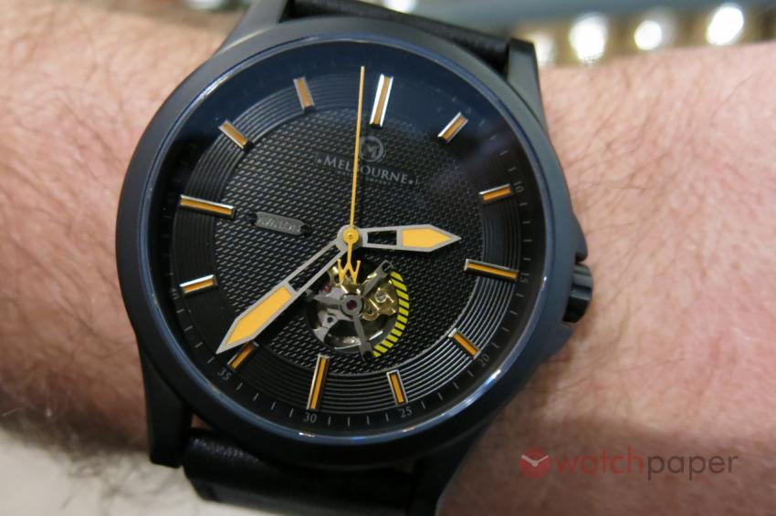 The Avalon on TimeCaptain's wrist