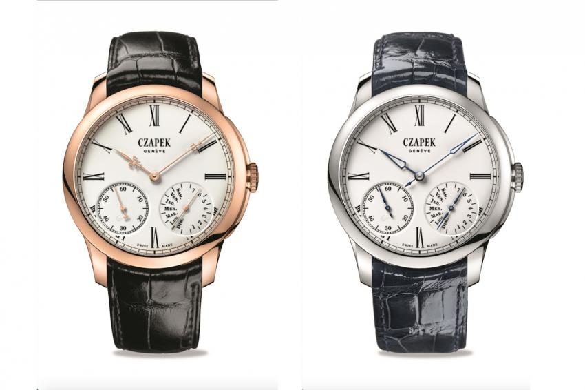 Czapek Quai des Bergues Enamel Grand Feu Rose Gold and Enamel Grand Feu White Gold
