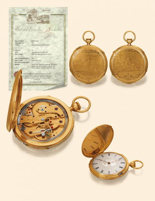Patek, Czapek & Cie pocket watch from 1842 © Antiquorum