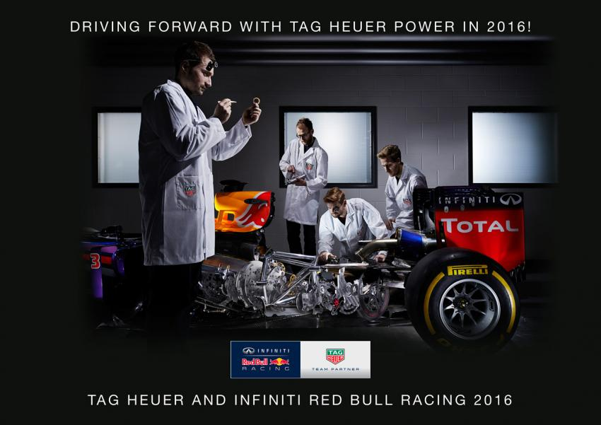 TAG Heuer becomes the official timekeeper and watch of the Red Bull Racing Formula 1 Team.
