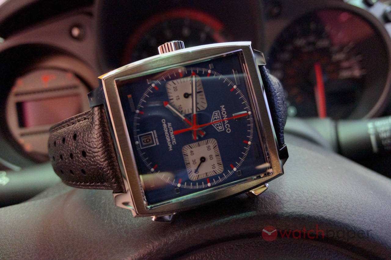 Tag Heuer Monaco Calibre 11 Caw211p Hands On Review Watchpaper Space Leather