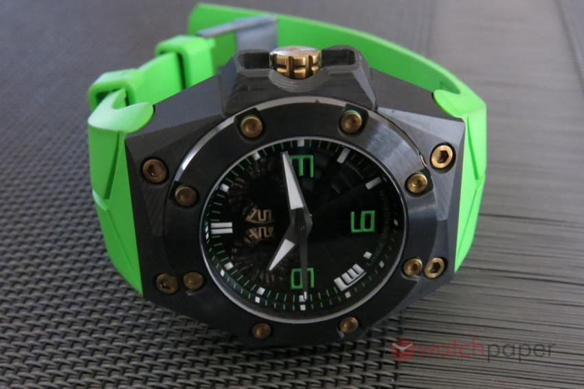 Linde Werdelin Double Date Carbon - Green