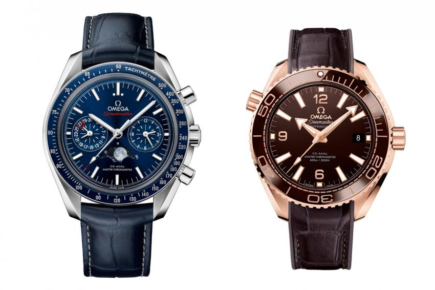 OMEGA Speedmaster Moonphase Chronograph and Seamaster Planet Ocean 600M Master Chronometer.