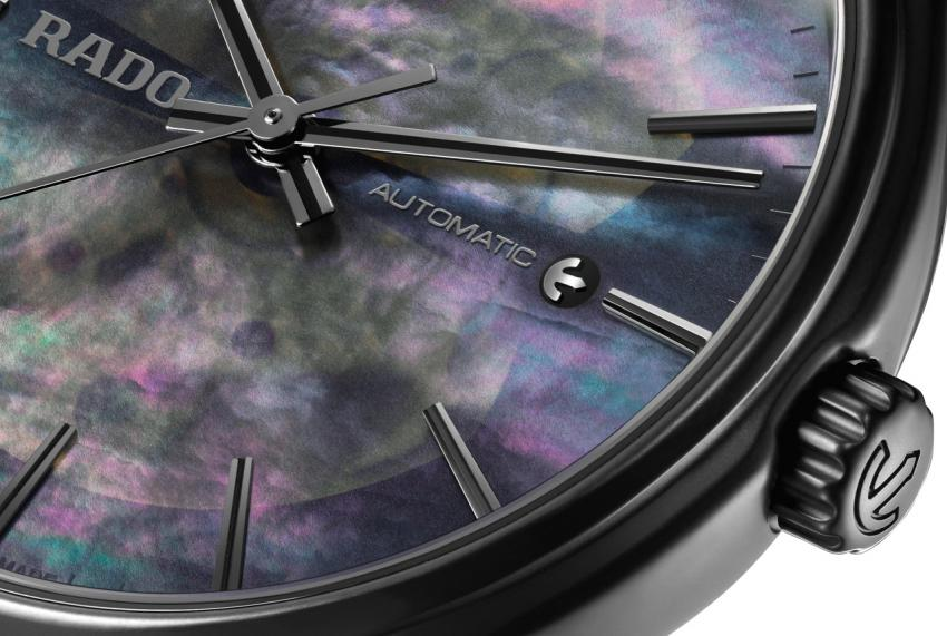 One last look at the Rado True Open Heart with black mother-of-pearl dial.