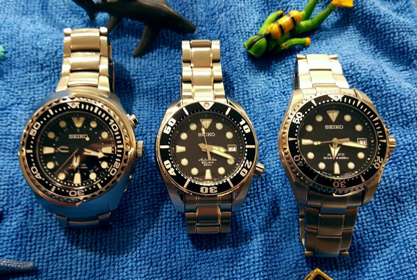 Head to head to head three divers from seiko watchpaper - Seiko dive watch history ...