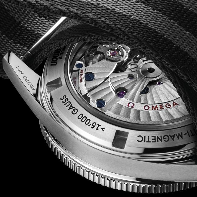 """The back of the Omega Seamaster 300 worn by Bond in SPECTRE. You can clearly see """"Proto No. 1"""" inscribed on the lug."""