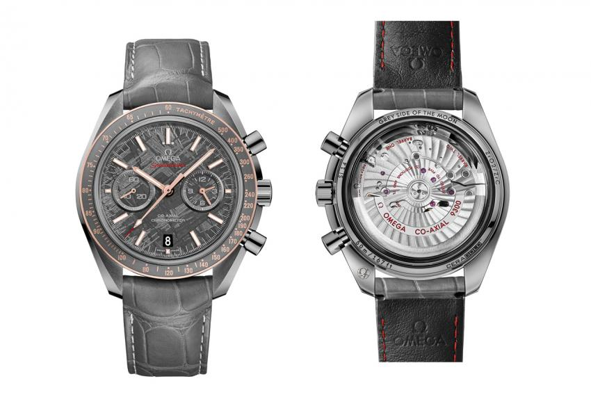 "The Speedmaster Grey Side of the Moon ""Meteorite"" is powered by the Omega Co-Axial Calibre 9300"