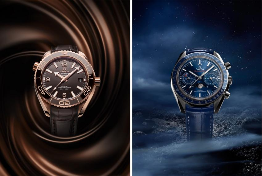 "Seamaster Planet Ocean 600M Master Chronometer ""Chocolate"" and Speedmaster Master Chronometer Chronograph Moonphase"