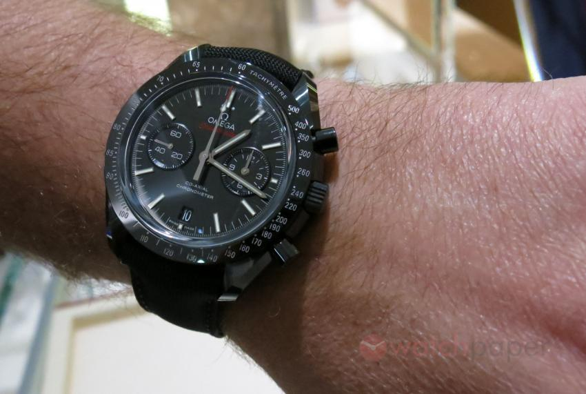 Trying on the Omega DSOTM