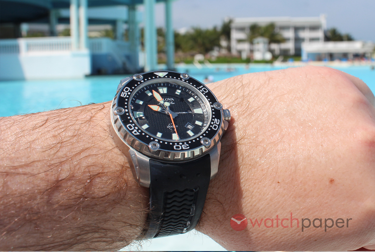 Bulova marine star automatic hands on review by timecaptain watchpaper for Marine watches
