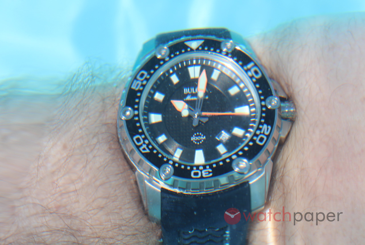 bulova marine automatic on review by