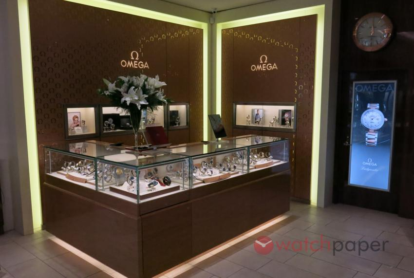 The Omega shop-in-shop at Bijouterie Dominic