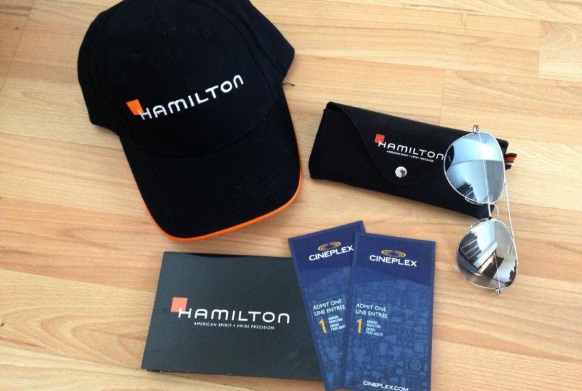 Hamilton Canada giveaway package.