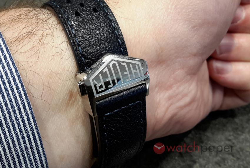 Strap and folding clasp of the TAG Heuer Carrera (39 mm) Calibre 6